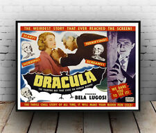 Dracula the Vampire bat : Old Horror film Poster reproduction