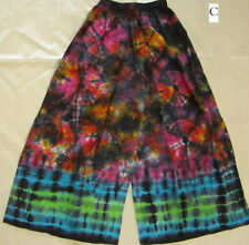 New Tie Dye Flared Cotton Multi-Coloured Pants (Gypsy Hippy/Boho) - C & D