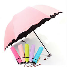 Fashion Colorful Anti-UV Parasol Flower 3 Folding Sun/Rain Windproof Umbrella  N