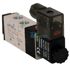 """5 way 2 position Solenoid Valve Air BSP1/4"""" DC/AC Inner Guide Pneumatic Electric"""