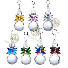 Crystal Ball Prism Chandelier Hanging Drops Xmas Snowman Glass Wedding Ornaments