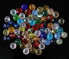 Lot de 72/100 Perles en Cristal Fabrication Bijoux Multicolore DIY
