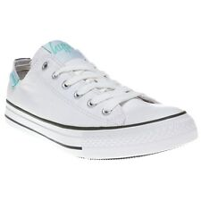 New Womens HYPE White Vintage Low Canvas Trainers Lace Up