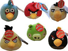 Official Angry Birds 4 Inch Soft Plush Toys With Sound Effects