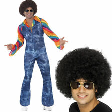 Mens 1970s Fancy Dress - 70s Groovier Dancer Costume PLUS Black Afro Wig