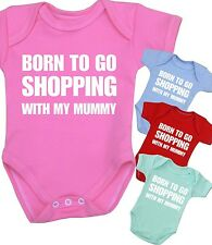 Baby Clothes SHOPPING Mummy Bodysuit Creeper One Piece Fun Slogan Shower Gifts