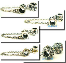 925 Sterling Silver Safety Chain Fit European Bead Charm Bracelet