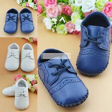 Baby Girls Boy PU Leather Crib Shoes Kids Soft Sole Breathable Toddler Shoes
