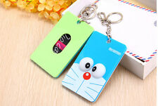 Portable Girl Cute 3D Cartoon Character Slot Credit Card Case Bag Key Chain Ring