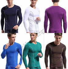 Brand Fashion Men's Sexy Thermal Underwear Soft Bamboo Fiber Long Sleeve T-shirt
