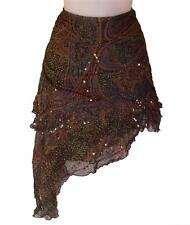 Bnwt Women's French Connection Chiffon Silk Sequin Wrap Skirt RRP£120 Fcuk New