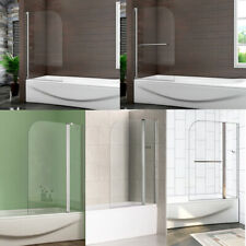 Quality Bath Shower Glass Screen 180° Pivot Radius New Design NEXT DAY DELIVERY