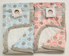 """Blankets & Beyond Baby Blanket ~ Owl ~ Pink ~ Blue ~ Boy or Girl ~Size 28"""" x 32"""""""