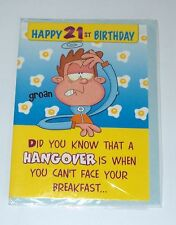 21st Birthday Card For Him  Male Choice Of 2 Designs Brand New Free Post