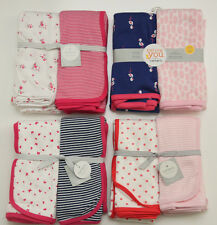Carter's Baby Girl 2 Pack Swaddle Blanket~ Butterfly,Flamingo,Roses or Flowers ~