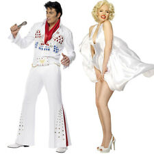 Unisex Couples 1950s Fancy Dress - Womens Mens Marilyn Monroe + Elvis Costume