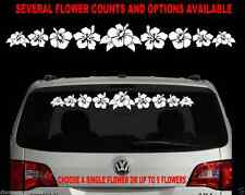 HIBISCUS FLOWER WINDSHIELD DECAL STICKER BEACH SALT WATER LIFE HAWAIIAN 3 STYLES