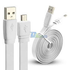 1/2/3m Premium Micro USB Flat Power Sync Cable Cord for Samsung Galaxy S4 White