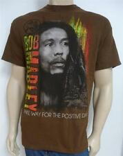 Zion Rootswear Bob Marley Make Way For The Posititive Tee Mens Brown T-Shirt NWT