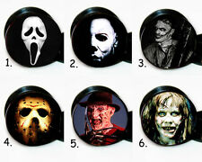 Pair of 6 Different Horror Movie Characters ear gauges tunnel screw back plugs