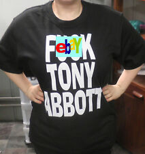 F*** Tony Abbott Black T-Shirt -Kitsch Vintage Protest Retro Punk Emo Rockabilly