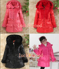 Children's jackets girls down jacket long thicker coat jacket