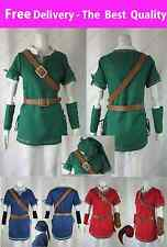 The Legend of Zelda Link Cosplay Costume Twilight Princess 3 Colors BEST OUTFIT