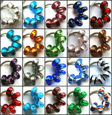 100pcs Wholesale Lampwork Murano Glass Beads Fit European Charm Bracelet NO.02