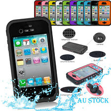 NEW Waterproof Shockproof Water/Shock/Snow/Dirt proof Case Cover for iPhone 4 4S