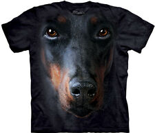The Mountain: Camiseta - Cara de Doberman, Dobermann, Tallas S, M, L, XL