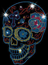 Sugar Skull Day of the Dead Sparkly Rhinestone T-Shirt PLUS SIZE SUPERSIZE 17172