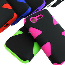 For LG Optimus Zone 2 VS415PP Fuel L34C Dynamic Tuff Impact Hybrid Case Cover