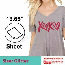 "Siser GLITTER Heat Transfer Vinyl 20"" x 1 yard - Select upto 3 colors (20""x12"")"
