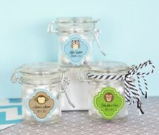 Baby Shower Candy Glass Jar Party Favor Personalized Animal Monkey Ducky Swing