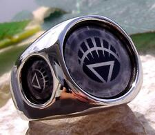 WHITE LANTERN CORPS RING STEEL RED LIFE BLUE SILVER DC COMICS GREEN N53