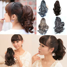 Fashion Curly Wavy Ponytail Extensions Claw Clip-In Layered Hair Extension FP42