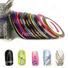Fashion Mixed Colors Rolls Striping Tape DIY Nail Art Tips Decoration Sticker