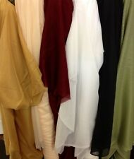 """Sheer Voile 7 Colors 118"""" Wide Drapery and clothing fabric per yard 100% polyest"""