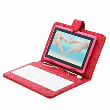 "iRulu A23 7"" 16GB Tablet PC Android 4.2 Dual Core&Cam Pink w/ Cartoon Keyboard"
