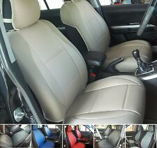 SELECT TOYOTA mix LEATHERETTE and SYNTHETIC TWO FRONT CUSTOM CAR SEAT COVERS