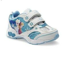 Disney  Frozen Elsa Anna LIGHT-UP Shoes sneakers Size:6,7,8,9,10,11,12