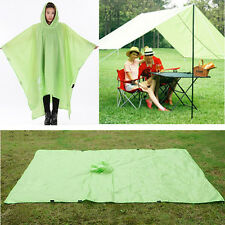 Waterproof 3In1 Raincoat Canopy Awning Tent Picnic Pad For Camping Hiking Travel
