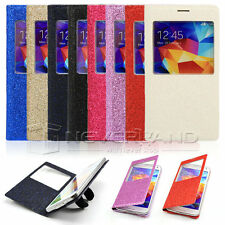 LUXURY S-VIEW Window FLIP PU LEATHER Case Cover for New Samsung Galaxy S5 i9600