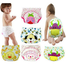 New Baby Infant Cartoon Cloth Diapers Reusable Nappy Washable Snap Nappy Inserts
