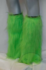 Lime Light Green Fluffy Legwarmers Rave Wear Accessories
