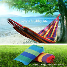 """75"""" x 31"""" Quilted Fabric Double Spreader Bar Outdoor Camping Travel Hammock +bag"""