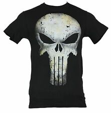 The Punisher (Marvel Comics) Mens T-Shirt - Water Stained Elaborate Skull pic
