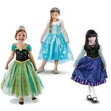 Girls Halloween 3-8Y Kids Fancy Dress Cosplay Costumes Party Xmas Gift 2015 New