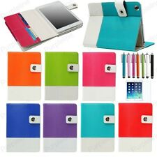 Hybrid PU Leather Wallet Flip Pouch Stand Case Cover For iPad Mini 2 3 4 Air Gen