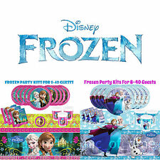 Disney FROZEN Princess Girls Party Package BASIC KIT Plates Cups Napkins & More